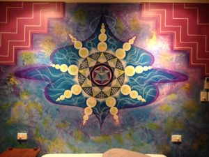 Mural art at bed room
